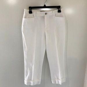 Lauren Ralph Lauren 2 White Capri Pants Skinny